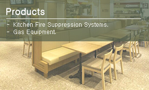 Kitchen Fire Suppression Systems and Gas Equipments